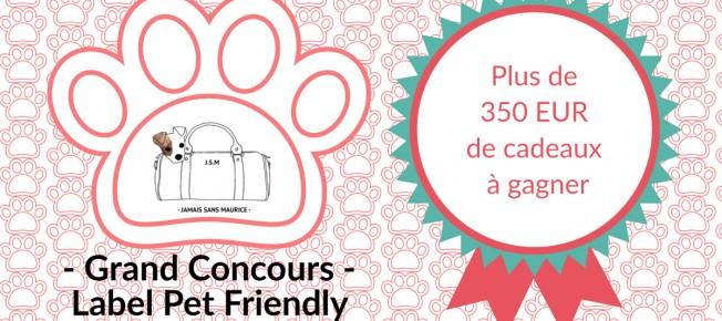 Concours : label voyage pet friendly